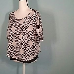 Anthropologie two layer dolman sleeves blouse med.